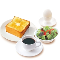 【朝食一例】ゆで卵&厚切りトースト