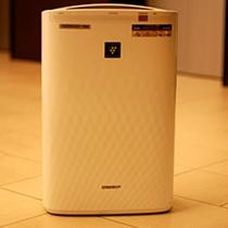 全室加湿機能付き空気清浄機を完備