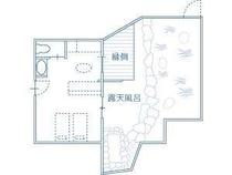 Iルーム平面図・露天風呂&小庭付き 1部屋タイプ