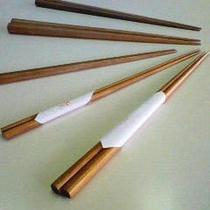【箸】箸は6種類の中より、自分の手に合った太さ長さのものをお選びいただいております。
