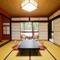 【和室一例】木の香り、畳の香りを楽しんでいただけます。