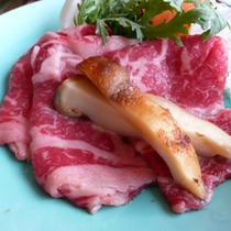 若狭牛と松茸のすき煮鍋