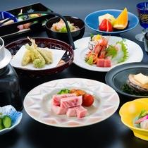 【極み会席】量より質を重視し、福井の旬の食材を取り入れた料理長厳選の内容