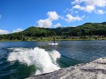 木崎湖ウェイクボード