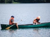 青木湖カナディアンカヌー