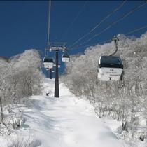 五竜スキー場冬のゴンドラ