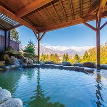 【天】露天風呂の楽しみ方①仁王立ちして、山に向かってゆっくり深呼吸してみましょう
