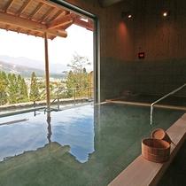 新温泉『わらび平の湯』 石の湯 内風呂