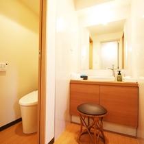 和洋室はバストイレ洗面がそれぞれ独立!やっぱり新しいのっていいものです