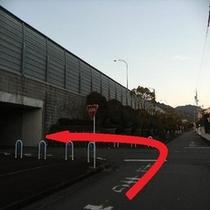 ホテルから第2駐車場までの道順④