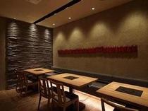 【お菜屋 わだ家つくば店】テーブル席は4名席が2卓、2名席が1卓をご用意しています。