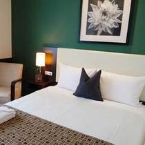 【シングルルーム】18.6㎡の広々客室にゆったり145cm幅のシモンズベッドをご用意。