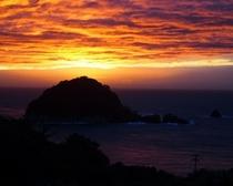 色んな表情の夕陽
