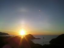 金色の夕陽