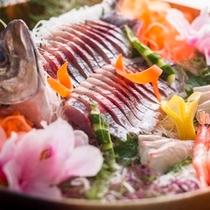 夏★旬魚の姿造り
