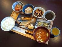 朝食の例 和食の日替りメニュー