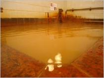 加水・塩素消毒・循環ろ過の無い、特殊成分を含む療養温泉。茶色く濁る鉄分豊富な単純炭酸鉄泉です。