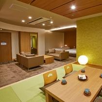 和洋室 新築ルーム ツインベッド+6畳 【禁煙】