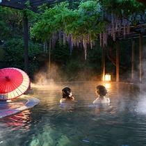 【藤館】野天風呂「文殊の湯」(夜)