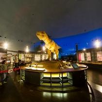 とってもリアルに動く恐竜に遭遇!!