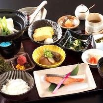 和風朝食の一例