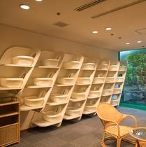 お着替えスペースも広く、湯上りものんびり。