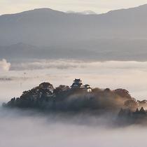 天空の城【越前大野城】雲海に包まれているととても神秘的な雰囲気です。
