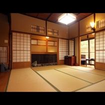 ◆別館特別室の居間、贅沢な空間の提供
