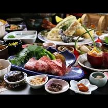 ◆黒毛和牛のステーキは厚めにカットし存在感を強調!肉好きはコチラのほうが好む人も少なくない!