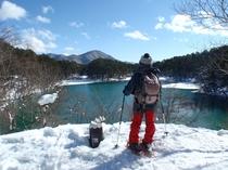 冬の五色沼・毘沙門沼