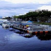 ◆水際公園 ひょうたん島無料遊覧船搭乗口◆