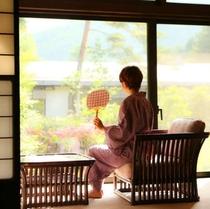 ■【五竜】客室からの庭園