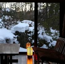 ■特別室【常念】からの冬景色