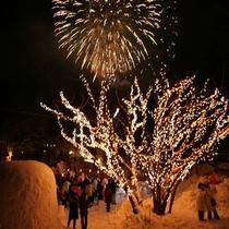 ■【冬】大町温泉郷の冬の花火