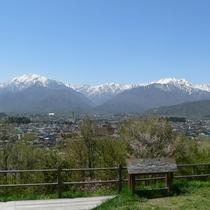 ■【春】山岳博物館前