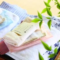 ■夏の浴衣。1名様に浴衣バスタオル2枚ずつご用意