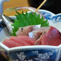 ご夕食_お刺身(一例)