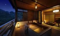 2012年 4月下旬全面リニューアルオープン 特別室 きづなすいーと 露天風呂付客室