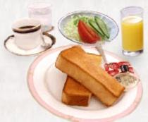 朝食はバイキング