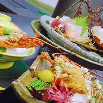 伊勢海老お料理3種の一例です