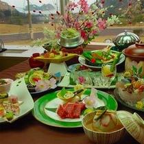 広島黒毛和牛A5ランクの陶板焼きをメインにノドグロなども登場する「春の最上級会席」