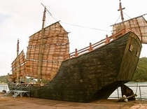 海賊船を近くから撮影