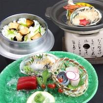 鮑料理3種のイメージ