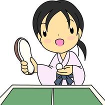 \ゆかたで卓球/これぞ旅の宿のお愉しみ♪