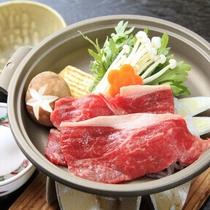 ■すき焼プランの夕食一例