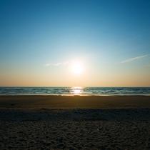 【吹上浜-夕陽-】