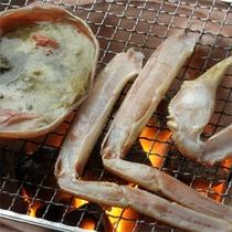 【夕食】焼き蟹