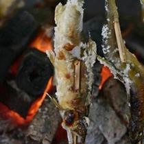 【夕食】若鮎の塩焼き