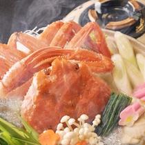 蟹ダシの良い香りが部屋中に漂う本ズワイガニの大漁鍋