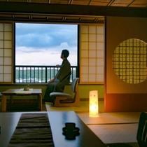 ◆日々の喧騒を忘れ、ゆるやかな時間が流れる客室で『ほっ』と一息